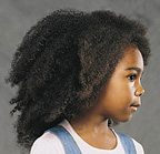 child with natural hair